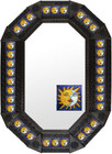 Metal mirror San Miguel de Allende octagonal frame with tiles