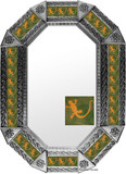 Metal mirror traditional.