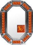 Metal mirror rustic