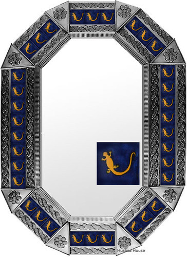 Metal mirror colonial