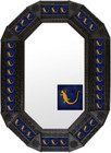 Metal mirror colonial octagonal frame with tiles