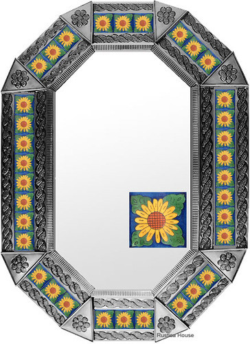 metal tin mirror tile artisan made