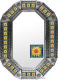 metal tin mirror tile artisan made