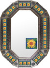 old metal tin mirror artisan made