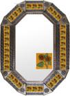 old metal tin mirror artisan made