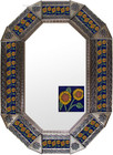 old metal tin mirror handcrafted