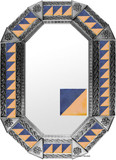 metal tin mirror tile handmade