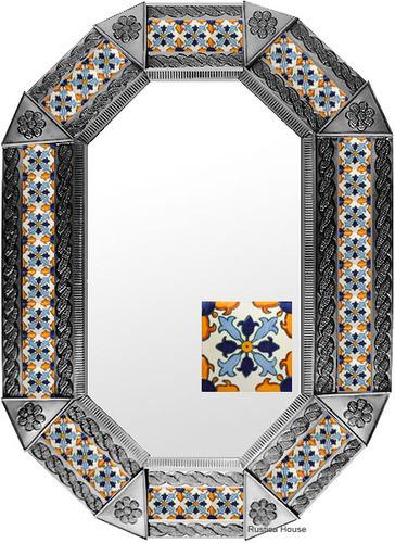 Metal mirror hacienda