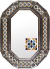 Old metal mirror hacienda frame tiles