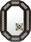 Metal mirror hacienda octagonal frame with tiles