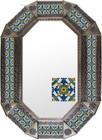 Old metal mirror old world frame tiles