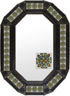 octagonal metal tin frame decorated with mexican artisan made tile
