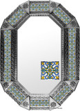 metal tin mirror tile hand crafted