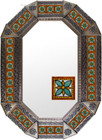 old metal tin mirror manufactured