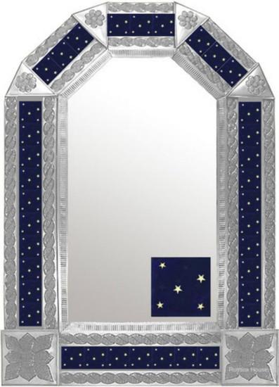 mexican traditional natural tin mirror