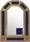 mexican traditional copper tin mirror