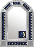 mexican rustic natural tin mirror
