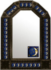 mexican rustic antique tin mirror