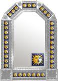 mexican colonial natural tin mirror