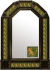 mexican hacienda antique tin mirror
