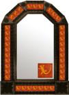 mexican folk art antique tin mirror