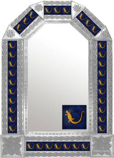 mexican old European natural tin mirror