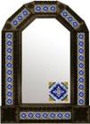 mexican Spanish antique tin mirror
