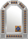 mexican old world natural tin mirror