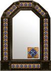 mexican old world antique tin mirror