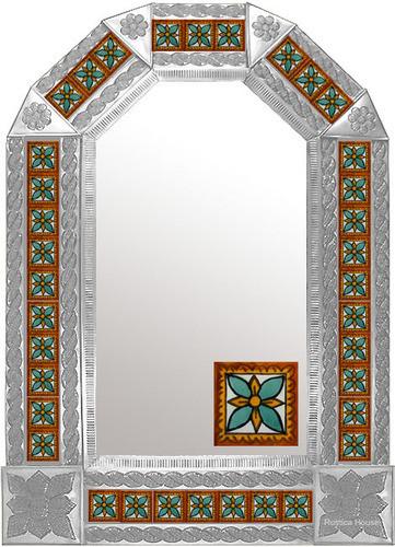 tin tile mirror