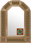 tin mirror with copper frame
