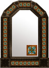 tin mirror with coffee arch