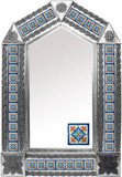tin tile mirror