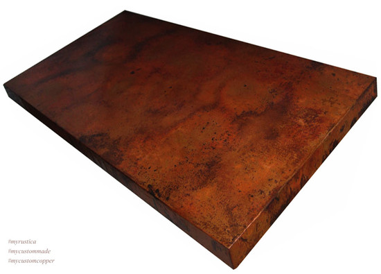 rectangular copper table-top