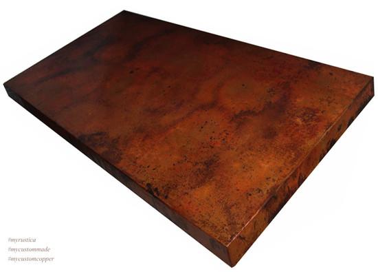 rectangular copper table-top