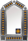tin mirror with colonial tiles
