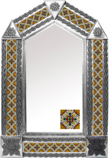 tin mirror with Rustica House tiles