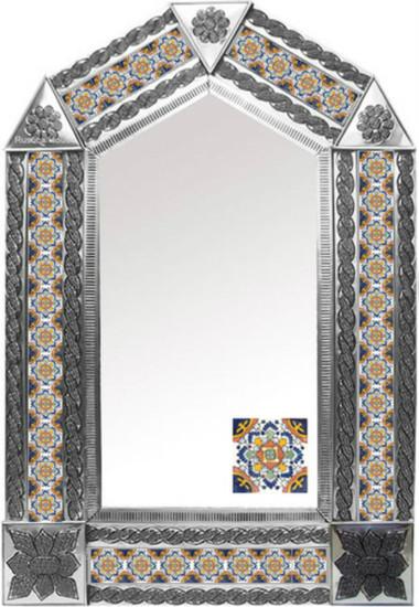 tin mirror with San Miguel de Allende tiles