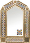tin mirror with copper frame and San Miguel de Allende tile