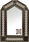 tin mirror with coffee arch frame and San Miguel de Allende tile
