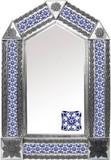tin mirror with old European tiles