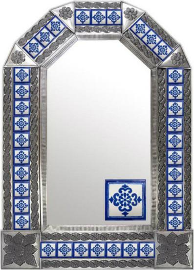 rustica mexican tin mirror