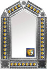 tin mirror with mexican old world tiles