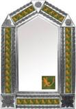 tin mirror with mexican colonial hacienda tiles