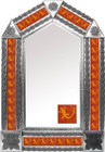 tin mirror with mexican Spanish tiles