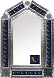 tin mirror with folk art tiles
