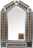 tin mirror with mexican hacienda tiles