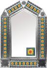 tin mirror with mexican San Miguel de Allende tiles