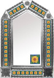 tin mirror with mexican San Miguel de Allende tiles
