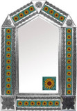 tin mirror with mexican Rustica House tiles